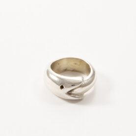 anello uroburo donna ag.