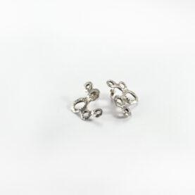 orecchini alveare argento