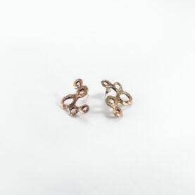 orecchini alveare bronzo